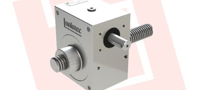 Worm gear screw jack made of stainless steel