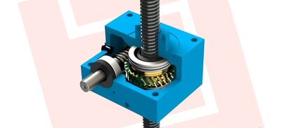Worm gear screw jack with trapezoidal thread